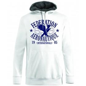 FAI Sweatshirt unisexe blanc