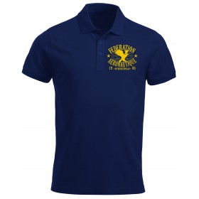 FAI Polo Men Navy Blue