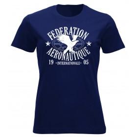 FAI T-shirt femme bleu marine