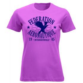 FAI T-shirt femme rose
