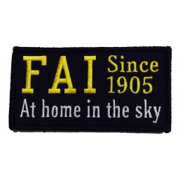FAI Badge noir (Since 1905)