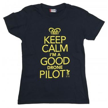 T-shirt Homme Marine Keep Calm Drone