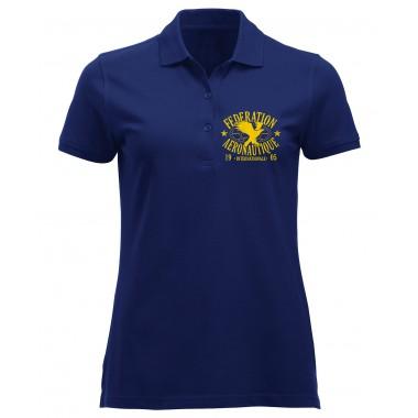 Polo FAI femme bleu marine