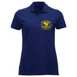 FAI Polo femme bleu marine