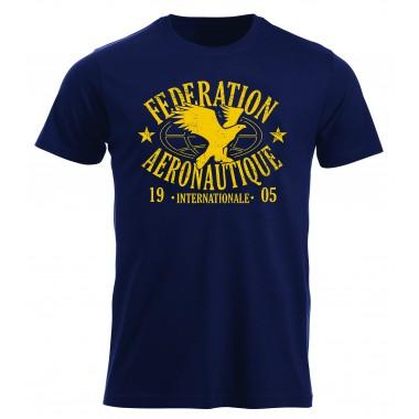 T-shirt FAI homme bleu marine