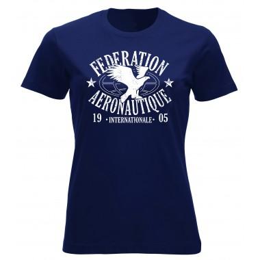 T-shirt FAI femme bleu marine