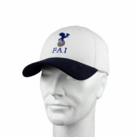 FAI Official Cap White with Navy Blue Visor